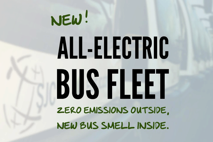 Image of Zero Emissions Outside, New Bus Smell Inside