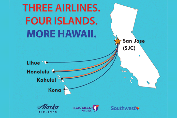 Image of More Hawaii: Three SJC Airlines Now Offering Nonstop Service!