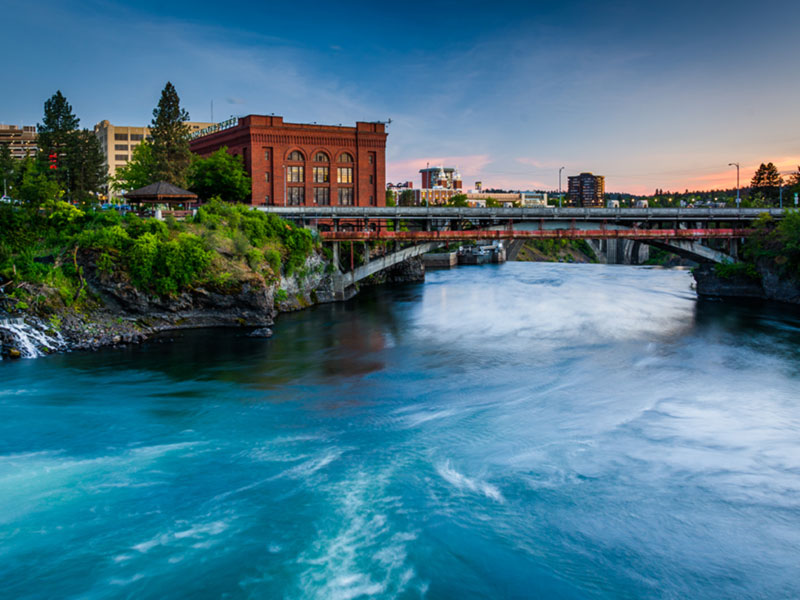 Photo: Bridge over Water (Spokane)